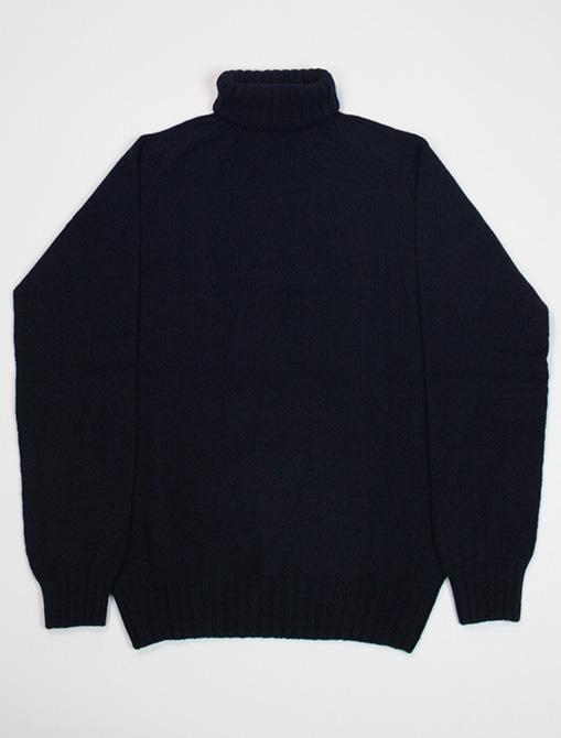 Harley of Scotland turtleneck sweater M22835 Nero Navy