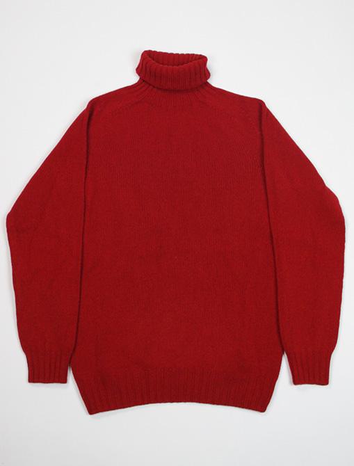 Harley of Scotland Turtleneck sweater M22835 Ruby