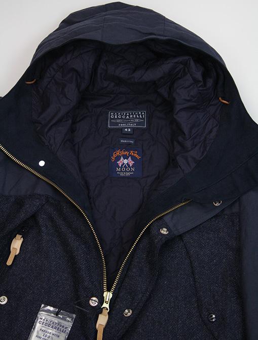 Manifattura Ceccarelli Two Tone Mountain Jacket Navy dettaglio fodera