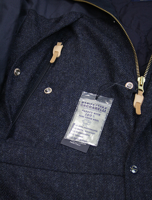 Manifattura Ceccarelli Two Tone Mountain Jacket Navy dettaglio zip