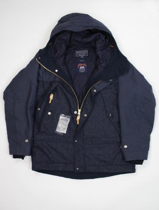 Manifattura Ceccarelli Two Tone Mountain Jacket Navy dettaglio giacca aperta