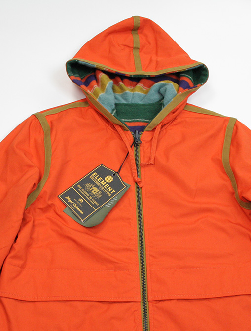 Nigel Cabourn x Element Alder Blanket Fleece Multicolor dettaglio cappuccio