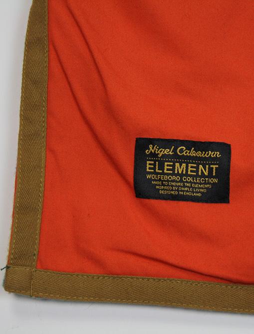 Nigel Cabourn x Element Alder Blanket Fleece Multicolor dettaglio etichetta