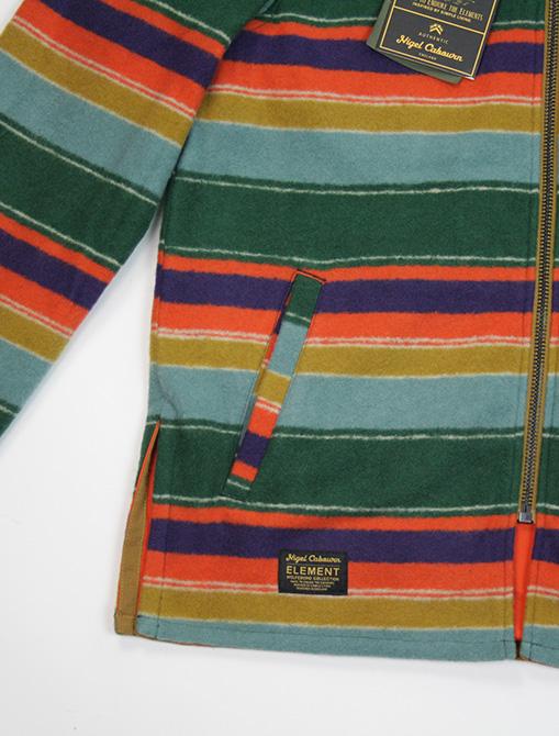 Nigel Cabourn x Element Alder Blanket Fleece Multicolor versione 2 dettaglio tasca