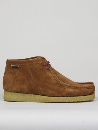 Sebago Koala high Brown Cognac,  Sebago suede cognac shoes, natural crepe sole.