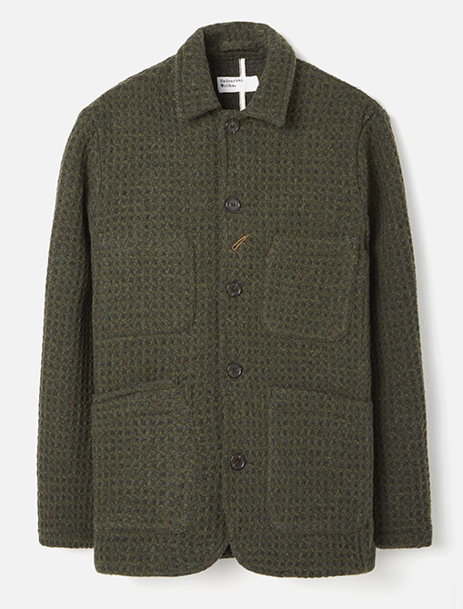 Universal Works 3D Tweed Olive Check Labour Jacket