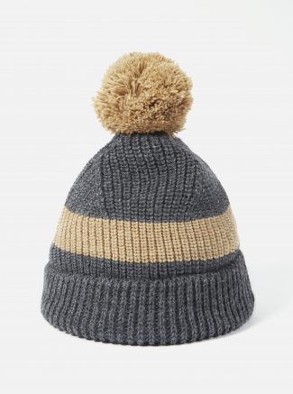 Universal Works Bobble Hat Alpacawool Charcoal Sand