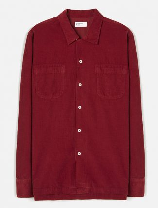 Universal Works Garage Shirt II Superfine Cord Claret