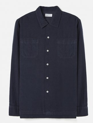 Universal Works Garage Shirt II Superfine Cord Navy
