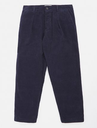 Universal Works Pleated Track Pant Cord Navy