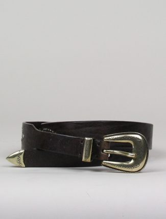 Post & Co 8146 espresso belt with studs
