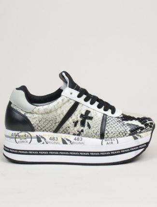 Premiata sneakers Beth 4116 pitone bianco