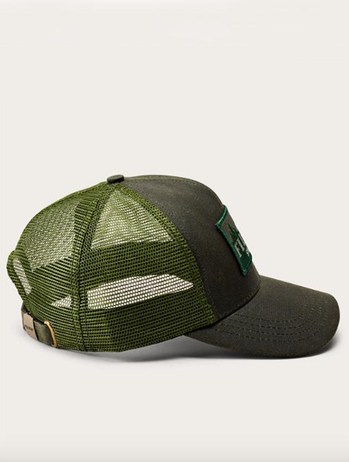 Filson Logger Mesh Cap Otter Green side detail