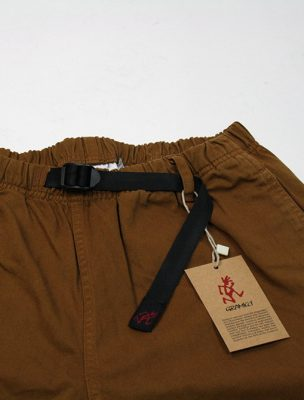 Gramicci Original G Shorts Mocha dettaglio cintura