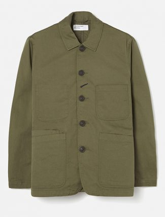 Universal Works Bakers Jacket Twill Light Olive