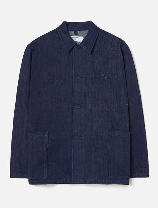 Universal Works Labout Jacket II Handloom Denim Indigo