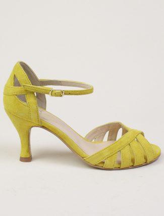 Dora sandali in camoscio giallo