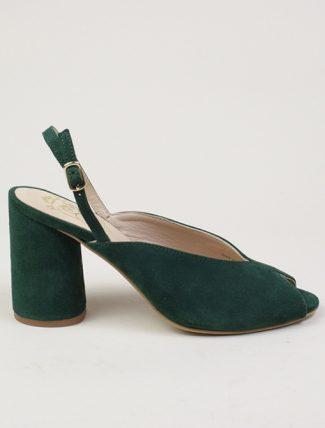 Dora sandali in camoscio verde