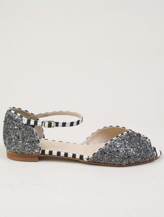 Dora sandalo basso Dana glitter grigio
