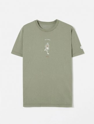 Universal Works Organic Tee In Laurel Runner Print Jersey