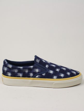 Universal Works x Sebago Jack in Indigo Double Ikat Square
