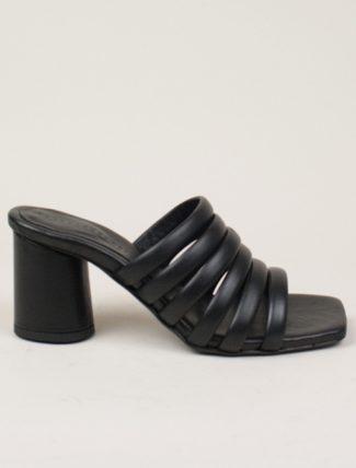 Ernesto Dolani sandalo fasce tubolari nero