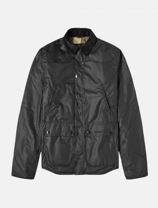 Barbour Reelin Wax Jacket Navy