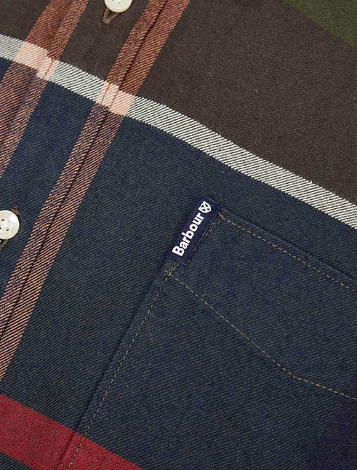 Barbour Tartan Shirt Dunoon Shirt pocket detail