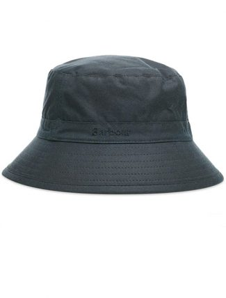 Barbour Wax Sport Hat Navy