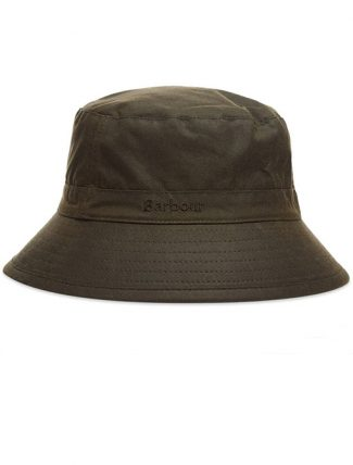 Barbour Wax Sport Hat Olive