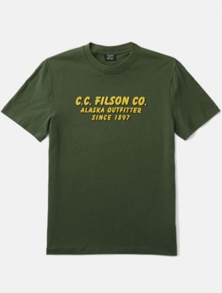 Filson lightweight graphic outfitter t-shirt Darkvine