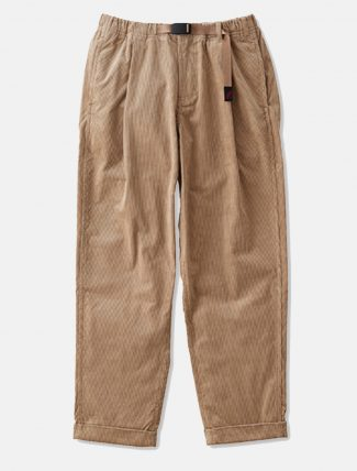 Gramicci Corduroy Tuck Tapered Pants Beige