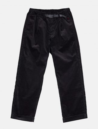 Gramicci Corduroy Tuck Tapered Pants Black