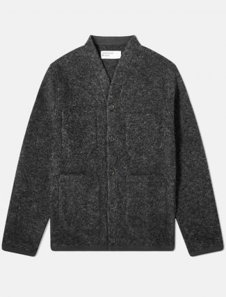 Universal Works Fleece Cardigan Charcoal