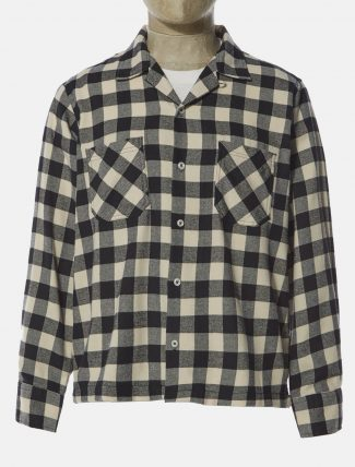 Universal Works Garage Shirt II Recycled Check Ecru