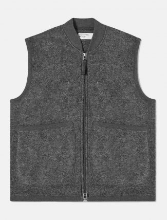 Universal Works Zip Waistcoat Charcoal