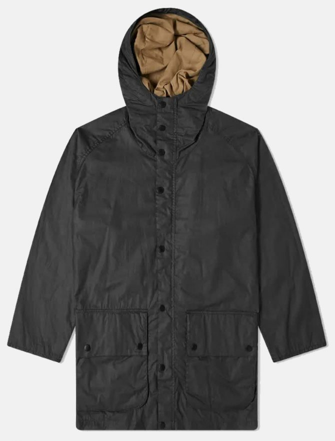 Barbour Hiking Wax Jacket Black