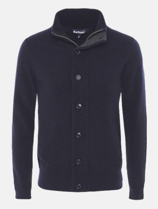 Barbour Zip Through Cardigan Navy