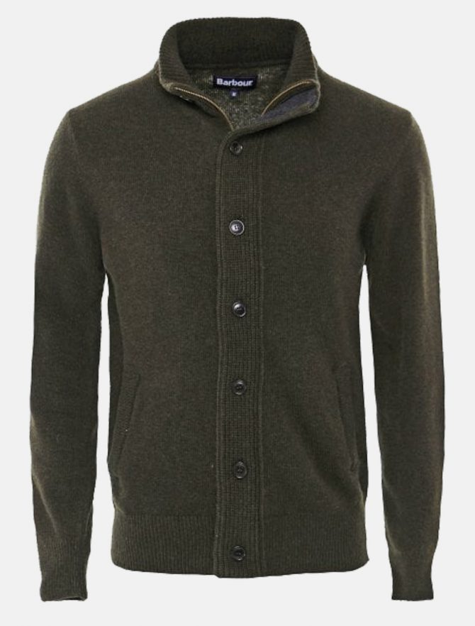 Barbour Zip Through Cardigan Olive