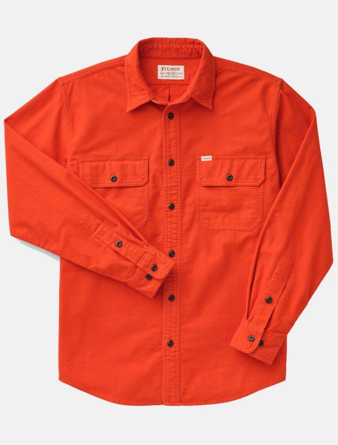 Filson Fiel Flannel Shirt Pheasant Red