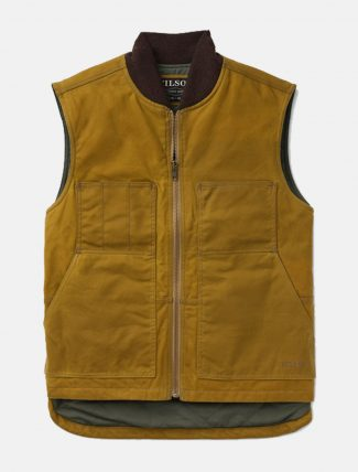 Filson Tin Cloth Insulated Work Vest Dark Tan