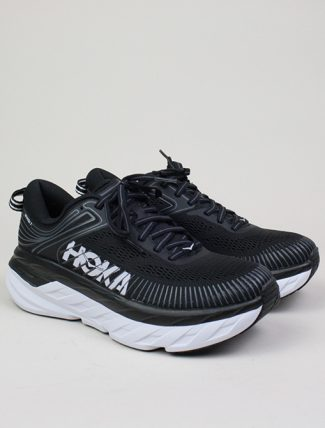 Hoka One One W Bondi 7 Black White paio