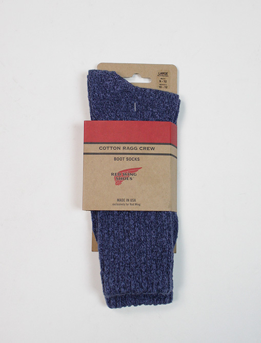 Red Wing 97370 Cotton Ragg Overdyed Socks Navy Blue