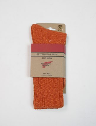 Red Wing 97371 Cotton Ragg Overdyed Socks Rust Orange