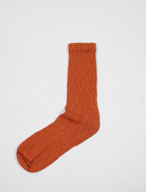 Red Wing 97371 Cotton Ragg Overdyed Socks Rust Orange dettaglio