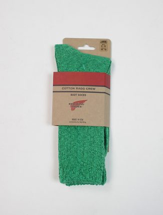 Red Wing 97372 Cotton Ragg Overdyed Socks Green Light Green