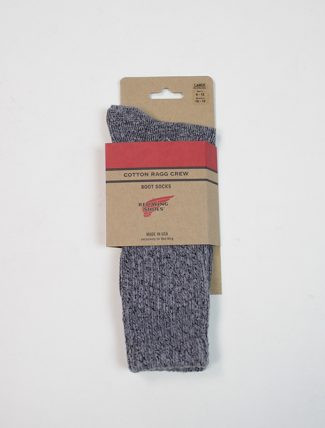 Red Wing 97373 Cotton Ragg Overdyed Socks Black Grey