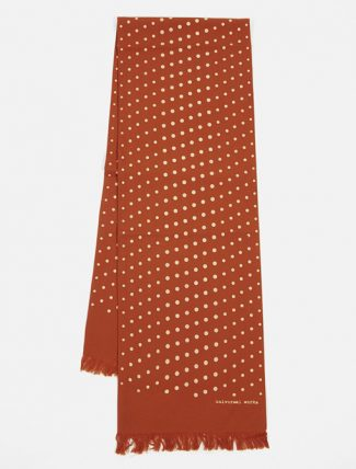 Universal Works Short Scarf In Orange Dot Print