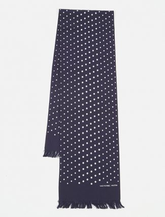 Universal Works Short Scarf in Navy Dot Print