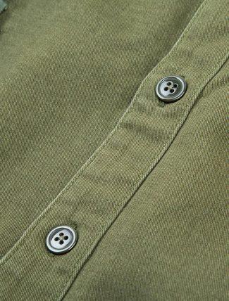 WorkWare M51 Patch Shirt Olive dettaglio bottoni